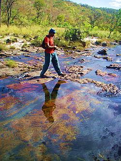 Antonio crossing river